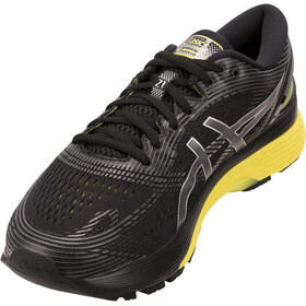 asics Gel-Nimbus 21 Schoenen Heren, black/lemon spark
